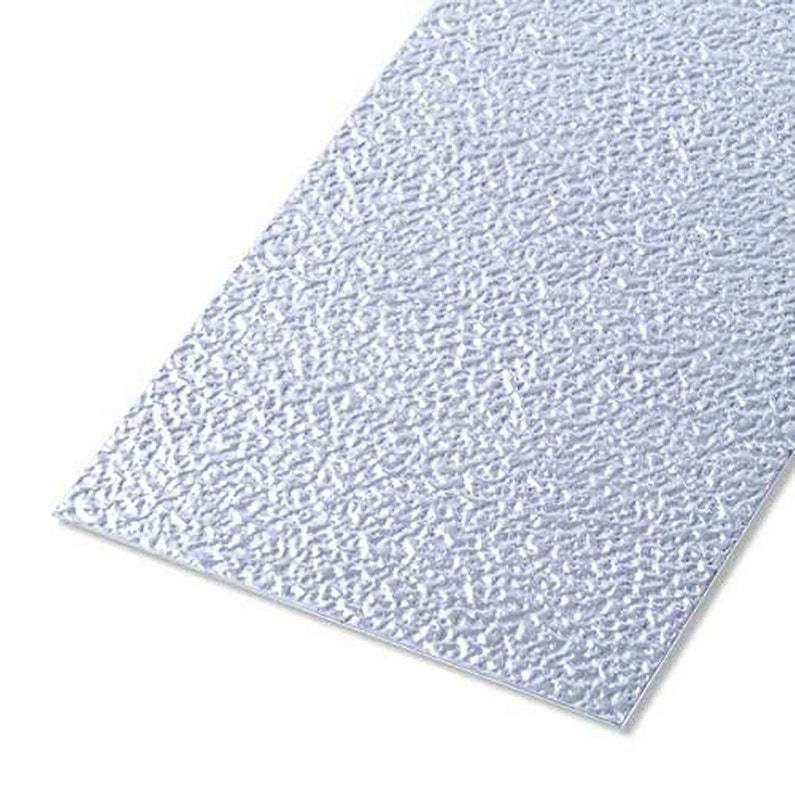 Tôle Aluminium Granitée Brut Gris L25 X L50 Cm Ep08 Mm