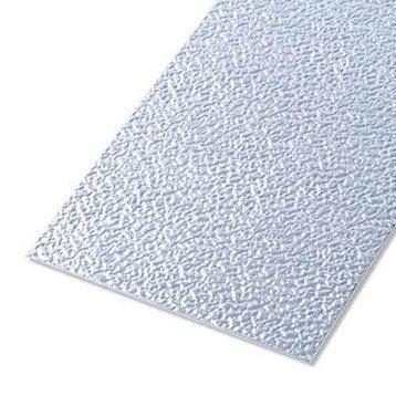 Tôle granitée aluminium brut, L.50 x l.25 cm x Ep.0.8 mm