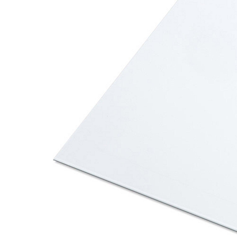 Tôle Aluminium Lisse époxy Blanc L25 X L50 Cm Ep08 Mm