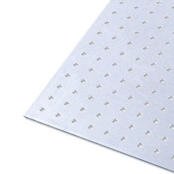 Tôle perforée aluminium brut, L.100 x l.60 cm x Ep.1.5 mm