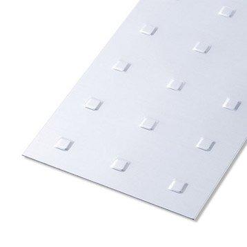 Tôle emboutie aluminium anodisé, L.100 x l.60 cm x Ep.0.7 mm