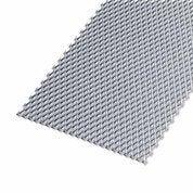 Tôle perforée acier brut, L.100 x l.20 cm x Ep.2.2 mm