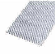 Tôle perforée acier brut, L.50 x l.25 cm x Ep.1.2 mm