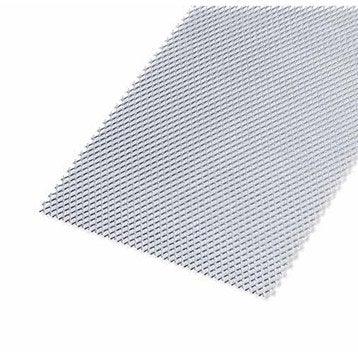 Tôle perforée acier brut, L.100 x l.12 cm x Ep.1.2 mm
