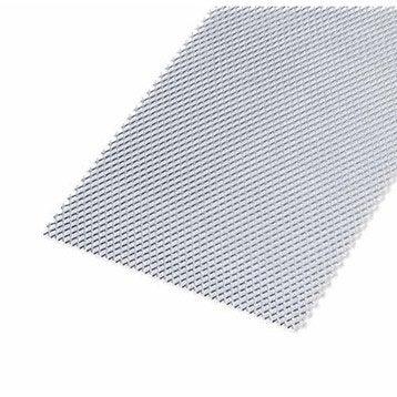 Tôle perforée acier brut, L.100 x l.20 cm x Ep.1.2 mm