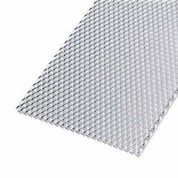 Tôle perforée aluminium anodisé, L.50 x l.25 cm x Ep.1.6 mm