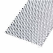 Tôle perforée aluminium anodisé, L.100 x l.20 cm x Ep.1.6 mm