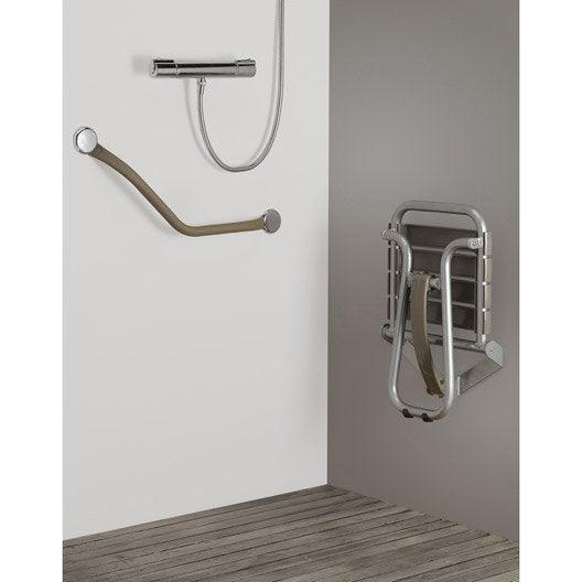Siège de douche à fixer, aluminium