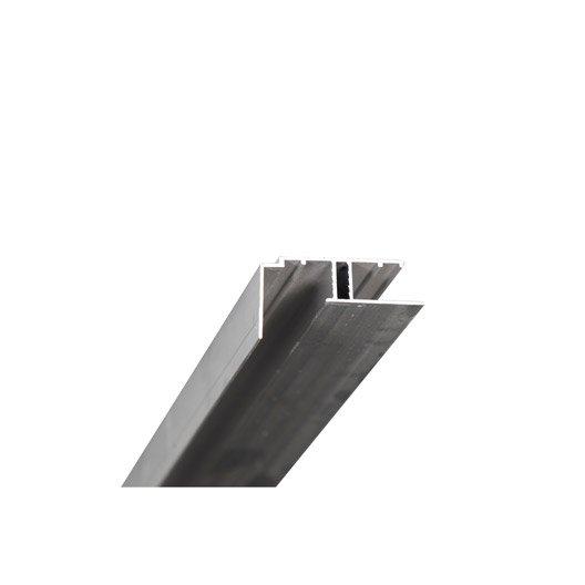 Profil bordure pour plaque ep 16 mm aluminium l 4 m - Profile alu en u leroy merlin ...