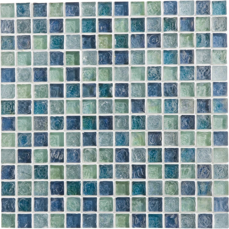 Mosaïque mur Ice flou turquoise 2 x 2 cm | Leroy Merlin