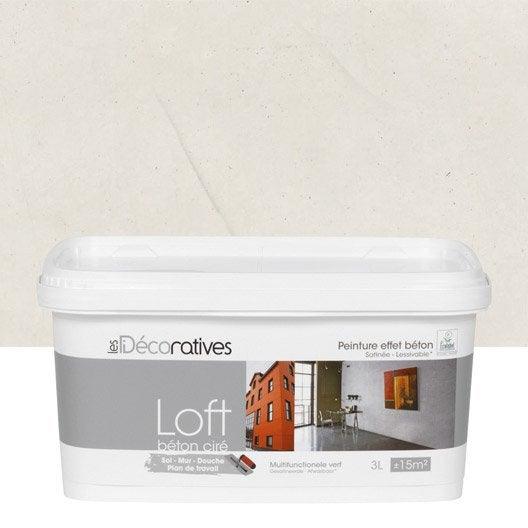 peinture d corative loft b ton cir les decoratives titane 3 l leroy merlin. Black Bedroom Furniture Sets. Home Design Ideas