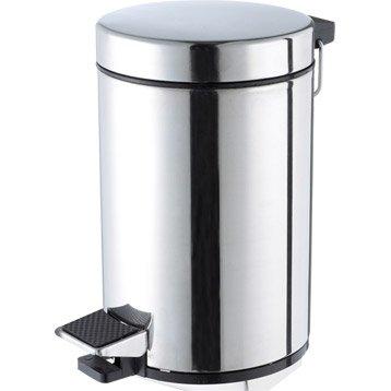 Poubelle de salle de bains accessoires et miroirs de salle de bains au meilleur prix leroy - Poubelle automatique leroy merlin ...