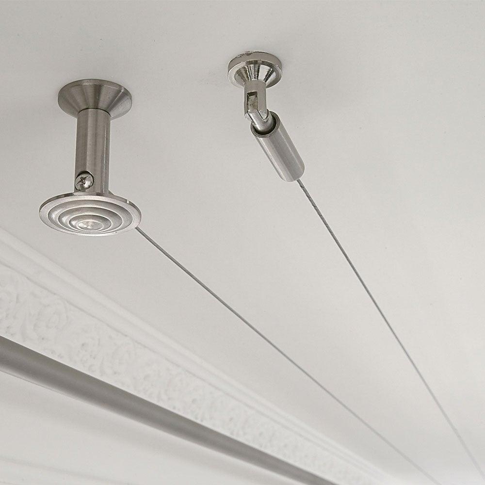 tringle rideaux fil acier
