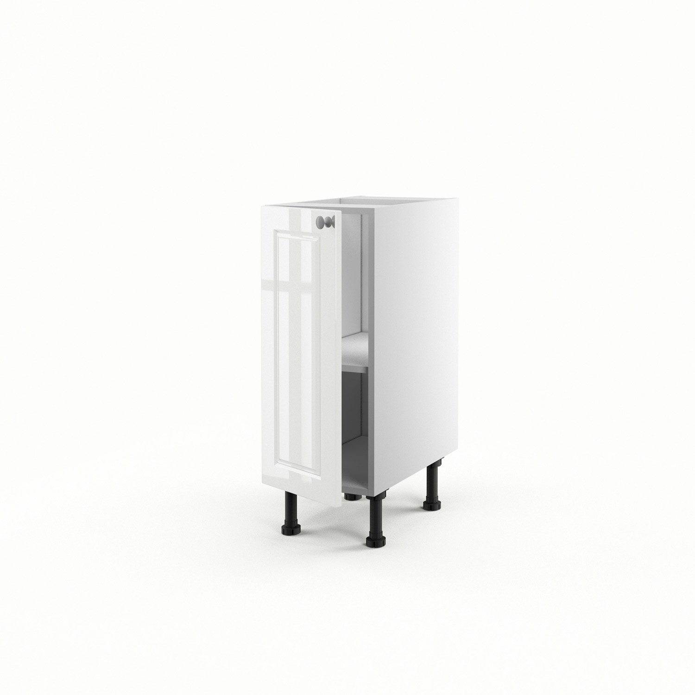 meuble de cuisine bas blanc 1 porte chelsea x x cm leroy merlin. Black Bedroom Furniture Sets. Home Design Ideas