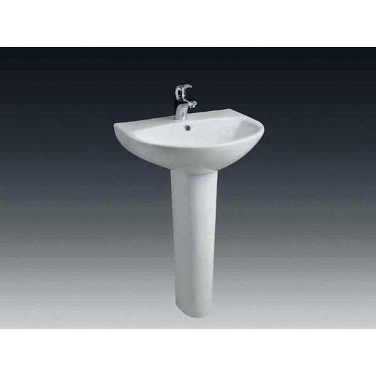 Colonne pour lavabo en céramique, blanc Nerea | Leroy Merlin
