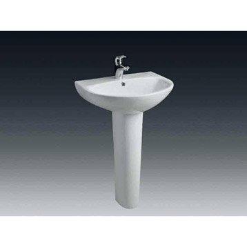 Colonne pour lavabo en céramique, blanc Nerea