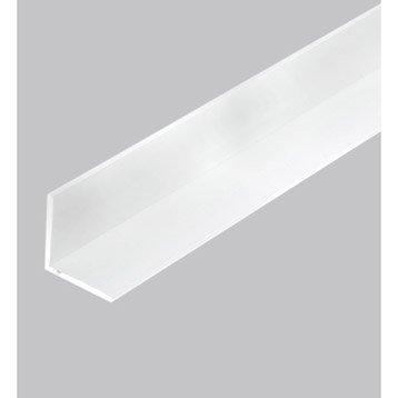Cornière égale pvc mat, L.2.5 m x l.4 cm x H.4 cm