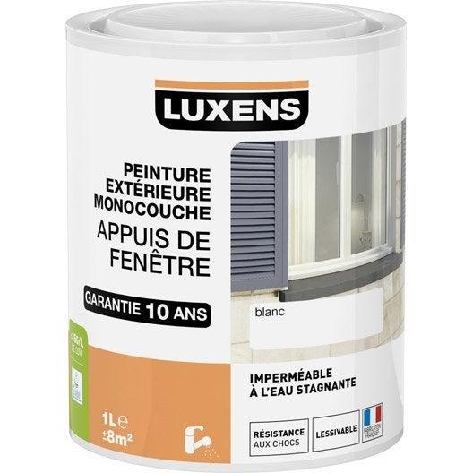 Peinture appui de fen tre luxens blanc 1 l leroy merlin for Peinture contour fenetre exterieur