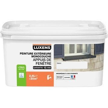 Peinture appui de fenêtre LUXENS, blanc, 2.5 l