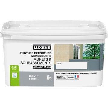 Peinture muret et soubassement LUXENS, blanc, 2.5 l