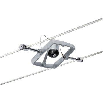 Spots et suspensions pour câble gu5.3 Mac ii métal Chrome mat, 1 PAULMANN