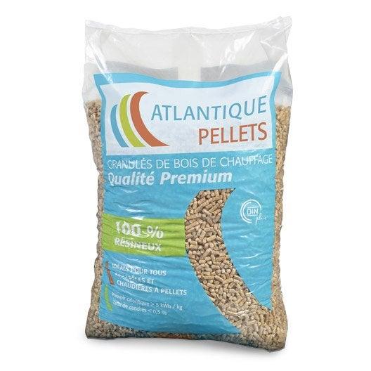 granul s de bois atlantique pellets en sac 15 kg leroy merlin. Black Bedroom Furniture Sets. Home Design Ideas