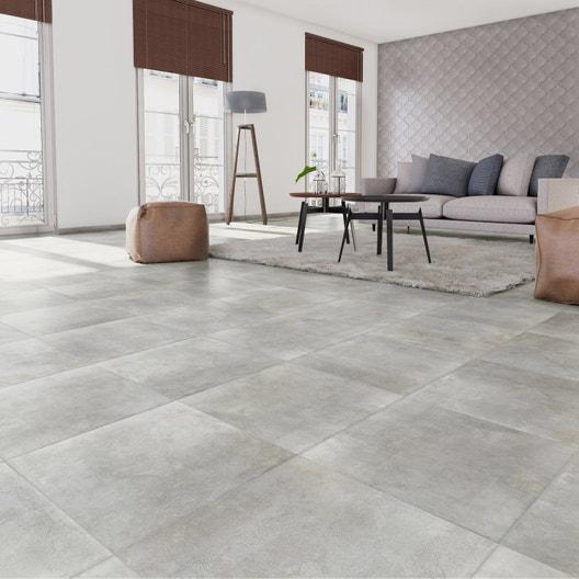carrelage sol et mur gris clair effet b ton laiton x cm leroy merlin. Black Bedroom Furniture Sets. Home Design Ideas
