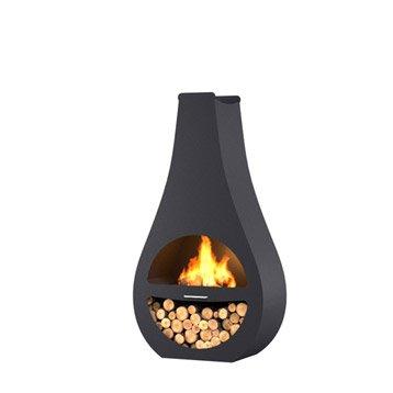 Brasero au charbon de bois BARBECOOK Kuro si  0 brûleurs, noir