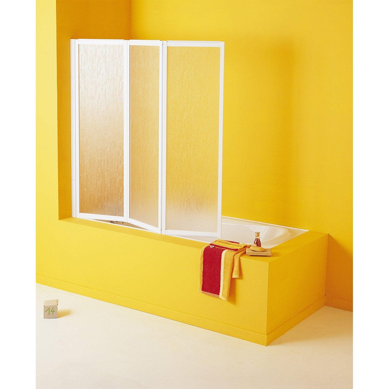 pare baignoire 3 volets pivotant pliant cmx cm. Black Bedroom Furniture Sets. Home Design Ideas