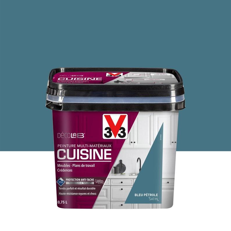 Peinture Cuisine Meubles Crédences V33 Bleu Pétrole 075 L Satin
