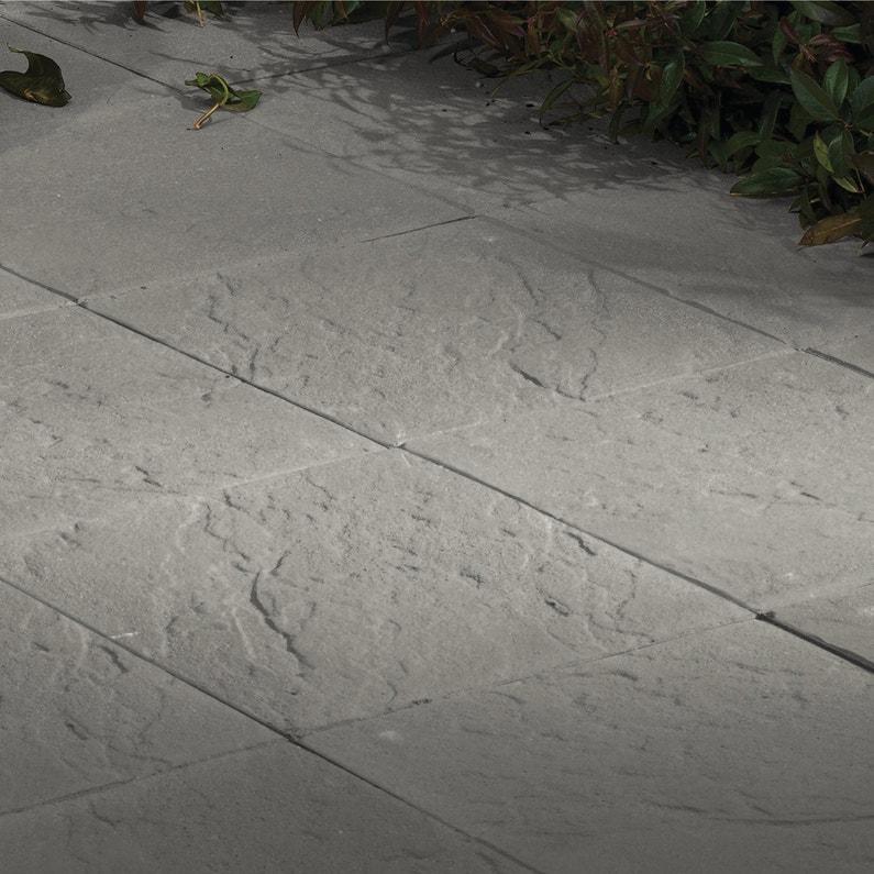 Dalle béton Kerry, grise, L.40 x l.40 cm x Ep.35 mm