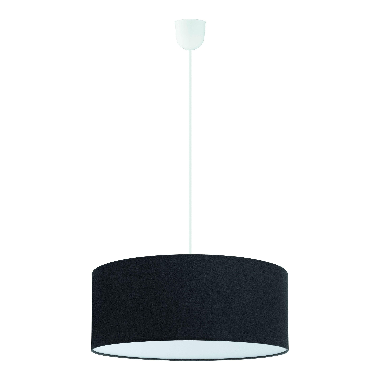 Suspension, classique tissu noir INSPIRE Sitia 3 lumière(s) D.48 cm