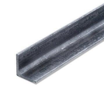Cornière égale acier brut, L.2 m x l.3.5 cm x H.3.5 cm