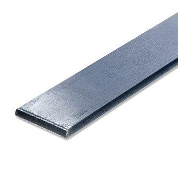 Plat acier brut, L.1 m x l.3 cm