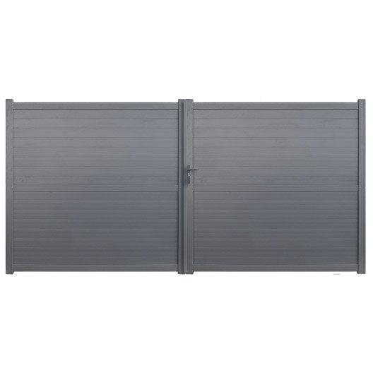 portail battant aluminium detroit gris anthracite cm x cm leroy merlin. Black Bedroom Furniture Sets. Home Design Ideas