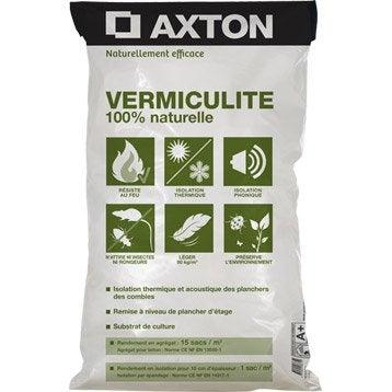 Vermiculite naturelle à épandre AXTON, 100 litres, r variable selon l'épaisseur