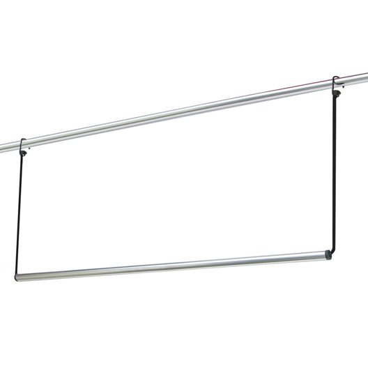 kit barre de penderie d18 mm ronde chrom 0 8 m leroy merlin. Black Bedroom Furniture Sets. Home Design Ideas
