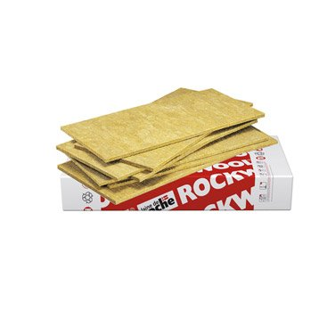 20 panneaux en laine de roche Rocksol Expert ROCKWOOL 1.2x0.6m, Ep.15mm, R=0.35