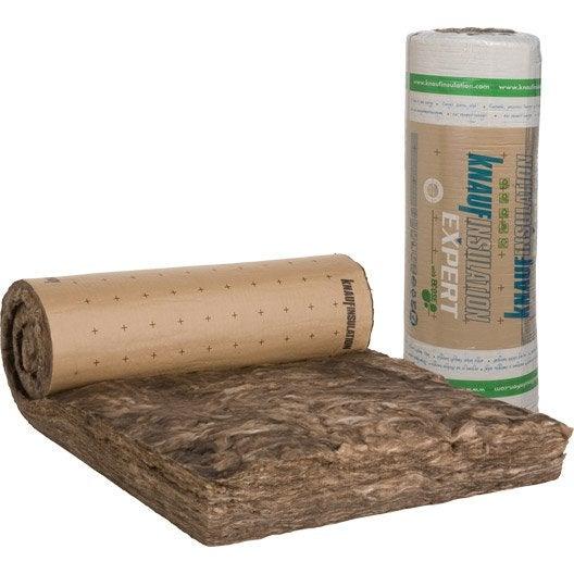 Laine de verre kraft knauf insulation 3 6 x 1 2 m ep 260 mm 040 r 6 5 l - Leroy merlin laine de verre 200 ...
