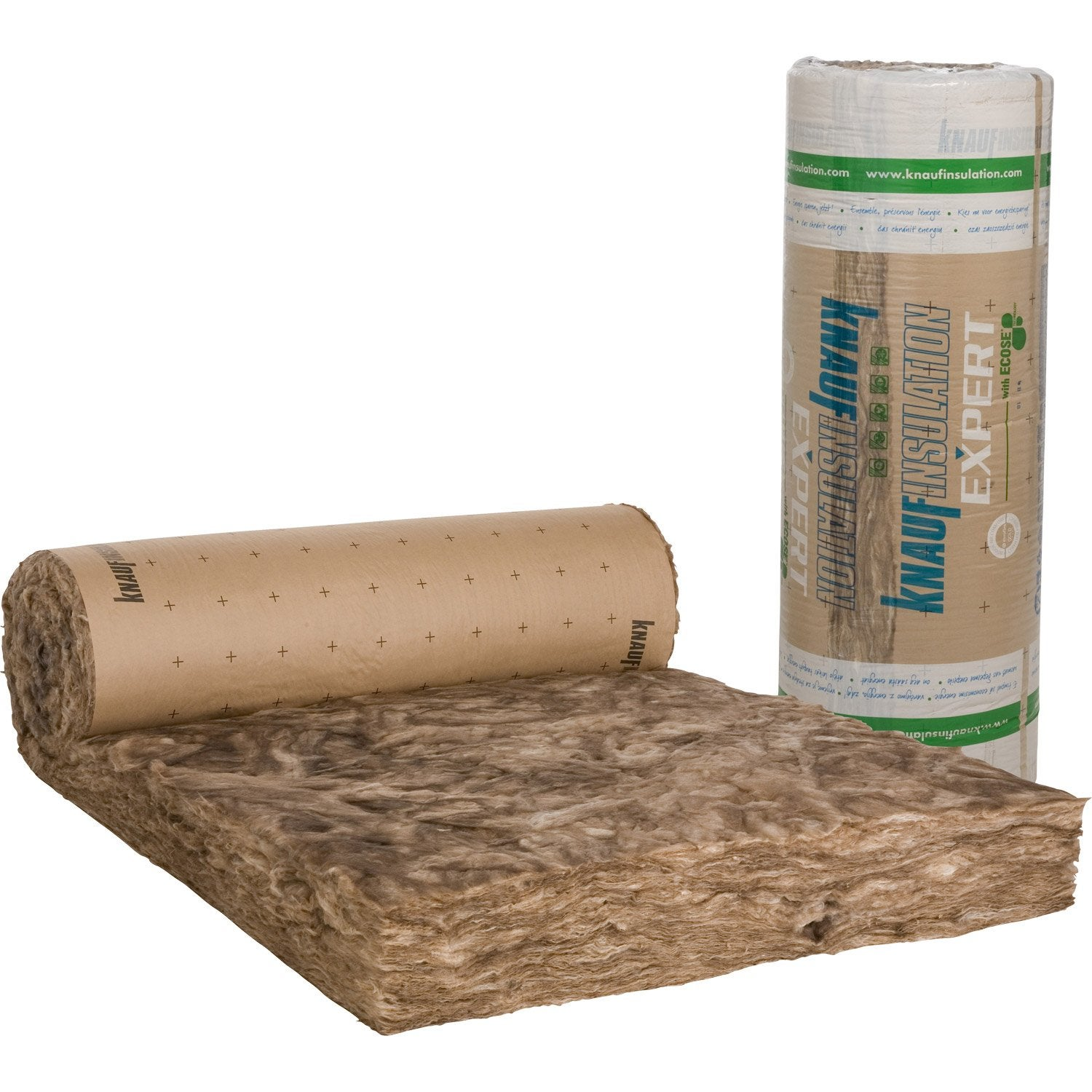 Laine de verre kraft knauf insulation 5 4 x 1 2 m ep 200 - Laine de verre isolation ...