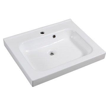 Plan vasque simple Remix Céramique 61.0 cm