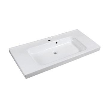 Plan vasque meuble de salle de bains au meilleur prix for Vasque en verre leroy merlin