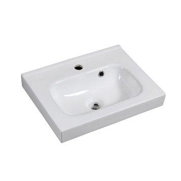 Plan vasque simple Remix Céramique 46 cm