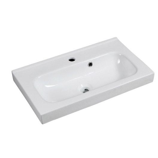 plan vasque simple remix c ramique 61 cm leroy merlin. Black Bedroom Furniture Sets. Home Design Ideas