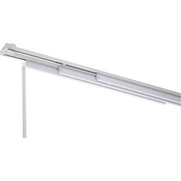 Rail fixe pour panneau japonais, aluminium, blanc, L.240 cm