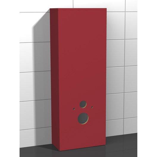 coffrage pour wc suspendu x x cm rouge coin d 39 o leroy merlin. Black Bedroom Furniture Sets. Home Design Ideas