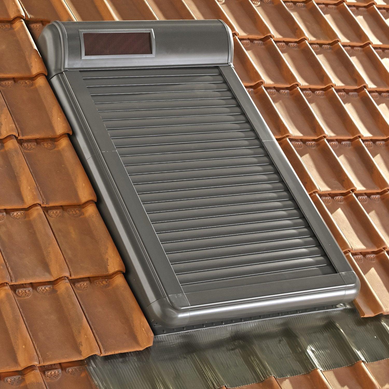 volet fen tre de toit roulant nergie solaire artens arz solar leroy merlin. Black Bedroom Furniture Sets. Home Design Ideas