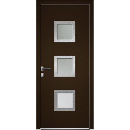 porte d 39 entr e sur mesure en aluminium seatle artens leroy merlin. Black Bedroom Furniture Sets. Home Design Ideas