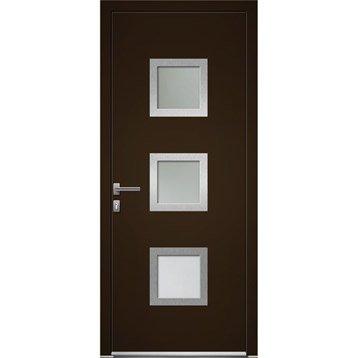 Porte d 39 entr e sur mesure leroy merlin - Porte d entree bois vitree leroy merlin ...