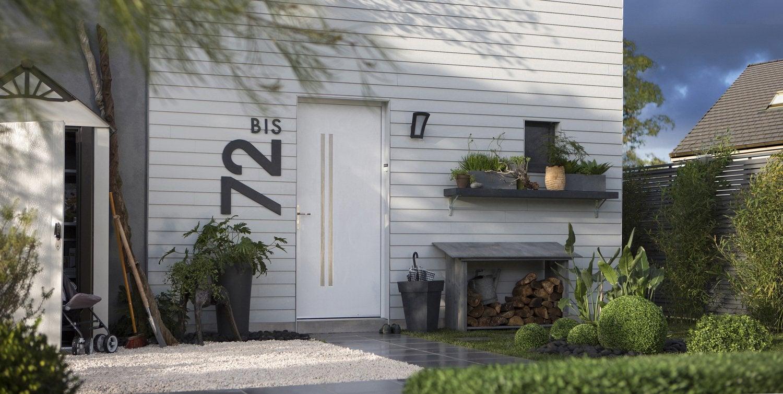 une porte d 39 entr e contemporaine et moderne leroy merlin. Black Bedroom Furniture Sets. Home Design Ideas